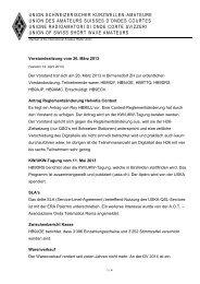 Bericht der Sitzung vom 26.3.2013 - USKA