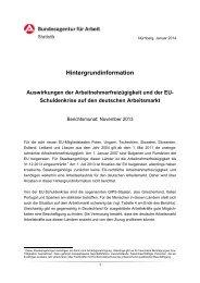 Hintergrundinformation - Statistik der Bundesagentur für Arbeit