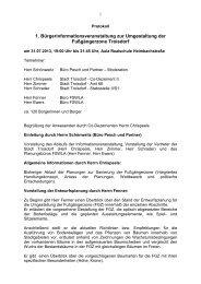 Protokoll der Veranstaltung - Stadt Troisdorf