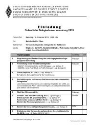 E inladung Ordentliche Delegiertenversammlung 2013 - USKA