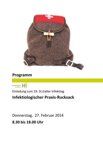 Programm Infektiologischer Praxis-Rucksack - infekt.ch