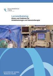 Lernzielkatalog Anästhesiologie - Universitätsklinikum Leipzig