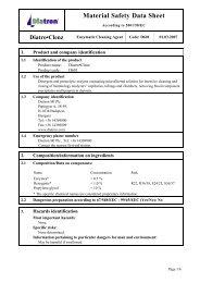 Material Safety Data Sheet - Diatron