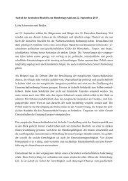 Aufruf der Deutschen Bischofskonferenz zur Bundestagswahl am ...