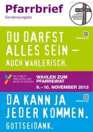 PFARRBRIEF PFR WAHL Nov. 2013 - Sternsinger in Havixbeck und ...