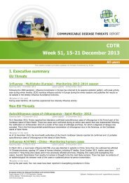 communicable-disease-threats-report-21-dec-2013 - ECDC - Europa