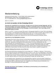 Ja nicht rot werden - Krebsliga Schweiz