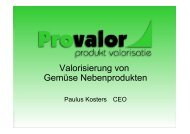 Präsentation Paulus Kosters, Provalor - foodwaste.ch