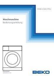 Waschmaschine Bedienungsanleitung - Schwab