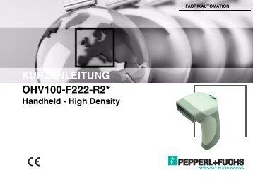Kurzanleitung OHV100-F222-R2 - Pepperl+Fuchs