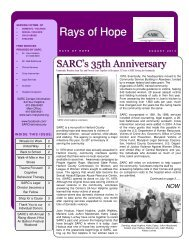 Check out our summer newsletter! - SARC