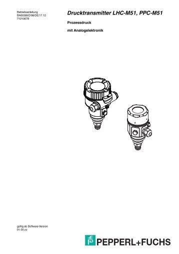 Drucktransmitter LHC-M51, PPC-M51 - Pepperl+Fuchs
