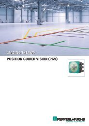 Position Guided Vision - PGV - Pepperl+Fuchs