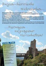 Burgen - historische Wahrzeichen - Tourismus Landkreis Neumarkt