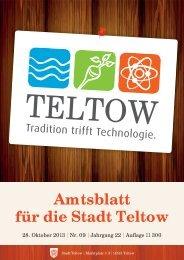Amtsblatt Teltow 9_2013.indd - der Stadt Teltow