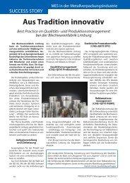 Aus Tradition innovativ - Productivity Management