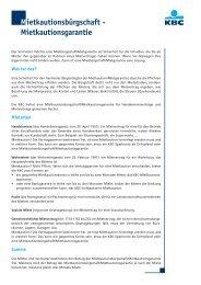 Mietkautionsbürgschaft - Mietkautionsgarantie