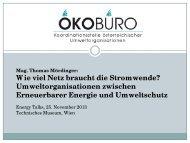 ÖKOBÜRO-Konferenz: Ein neues Stromsystem für die Energiewende