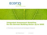 Integrated Assessment Modelling for the German Building ... - EEG