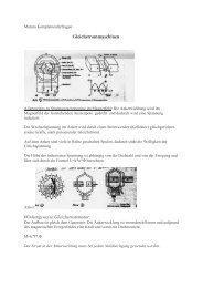 Gleichstrommaschinen Wirkungsweise Gleichstrommotor: