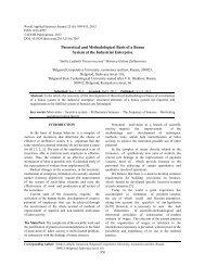 Theoretical and Methodological Basis of a Bonus System ... - Idosi.org