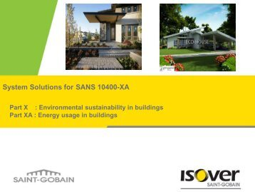 System Solutions for SANS 10400-XA - Alive2green