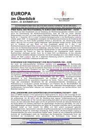 Europa im Überblick, 33/13 - Deutscher Anwaltverein