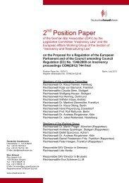 2 Position Paper - Deutscher Anwaltverein