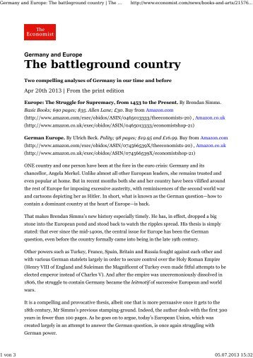 The battleground country