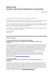 Newsletter Kultur- und Kreativwirtschaft ... - Stadt Heidelberg