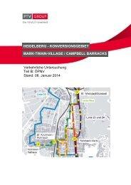 Verkehrliche Untersuchung ÖPNV, Januar 2014 - Stadt Heidelberg