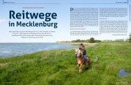 Reitwege in Mecklenburg - Mecklenburger Pferde