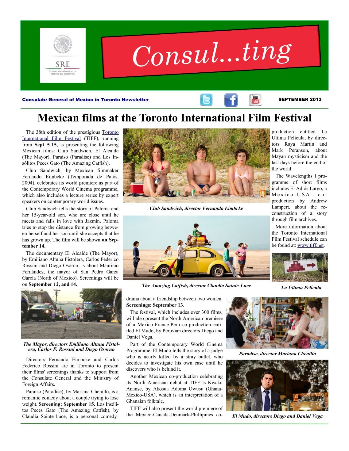 210 free Magazines from CONSULMEX SRE GOB MX