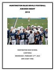 Huntington Football Awards Dinner Journal 2012 Season