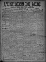 10 Décembre 1907 - Presse régionale