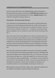 Steffi Memmert-Lunau u. Angelika Fischer ... - Gedenkbibliothek