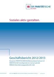 Geschäftsbericht 2012/2013 Soziales aktiv gestalten. - parisax.de