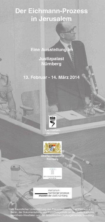 Flyer zur Ausstellung - Museen der Stadt Nürnberg