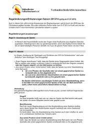 Regeländerungen - SBFV