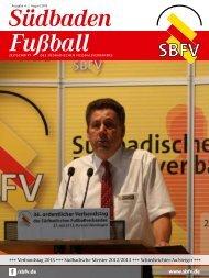 Ausgabe 4   August 2013 - SBFV