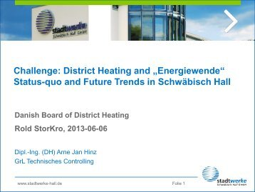 """Challenge: District Heating and """"Energiewende"""" Status-quo ... - DBDH"""
