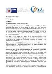 Konjunkturumfrage 2013 AHK Bulgarien 11.04.2013 Deutsche ...