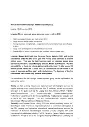 1 Annual review of the Leipziger Messe corporate ... - AHK Bulgarien