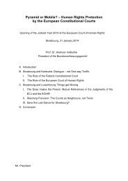 Speech by Andreas Voßkuhle - European Court of Human Rights