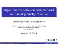 Algorithmic melody composition based on fractal ... - cs.ioc.ee