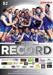 BFNL Record - Season Opener - Ballarat Football League - AFL ...