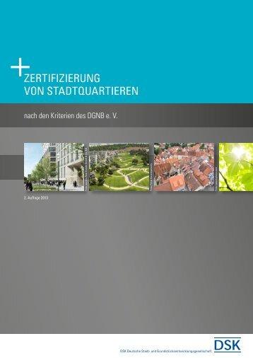 ZERTIFIZIERUNG VON STADTQUARTIEREN - DSK GmbH