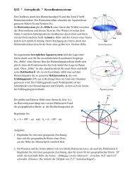 Astronomische Koordinatensysteme - raschweb.de