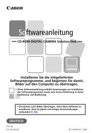 Softwareanleitung - Canon Europe