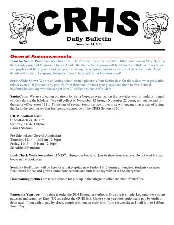 Daily Bulletin - Campuses